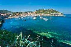Portoazzurro, île d'Île d'Elbe, Italie. image libre de droits