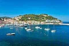 Portoazzurro, Eiland van Elba, Italië. Royalty-vrije Stock Foto's