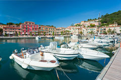 Portoazzurro, Insel von Elba, Italien. lizenzfreie stockbilder