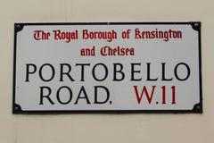 Portobello路标 库存图片