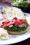 portobello гриба бургера Стоковые Изображения
