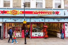 Portobello路在伦敦,英国 库存图片