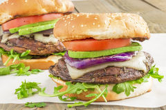 Portobello Burgers Royalty Free Stock Photos