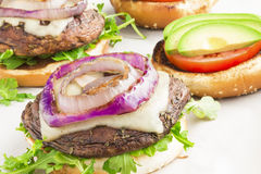 Portobello hamburgare Royaltyfri Fotografi
