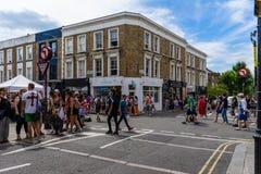 Portobello Market in Notting Hill, London, England, UK stock image