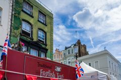 Portobello Market in Notting Hill, London, England, UK royalty free stock images