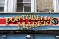 Portobello marknadsför Arkivfoto