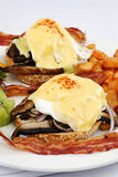 Portobello mushroom brie eggs benedict Royalty Free Stock Photography