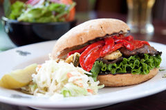 Portobello Mushroom Burger Royalty Free Stock Image