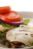 Portobello mushroom burger Royalty Free Stock Photo