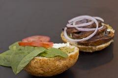 Portobello Mushroom Burger Stock Photography