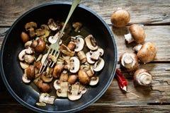 Portobello mushroom fried Stock Photography