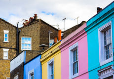 Portobello road houses Royalty Free Stock Images