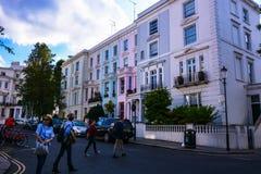 Portobello road`s pastel colors stock photography