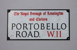 Portobello Road Street Sign Stock Photos