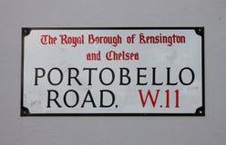Portobello Road Street Sign Stock Photos