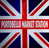 Portobello sign Stock Image