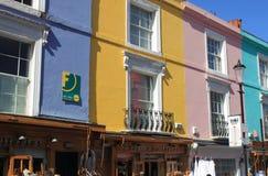 Portobello-Straßenshops Stockbilder