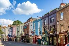 Portobello väg, berömd marknad i London Arkivfoto