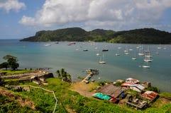 Portobelo port, Panama Arkivfoto