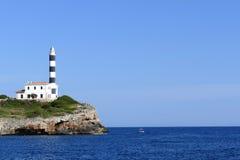 Portocolom latarnia morska Fotografia Royalty Free
