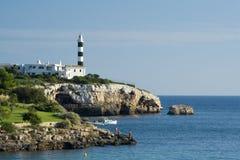 Portocolom lighthouse Stock Photo
