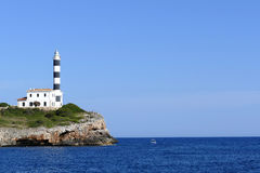 Portocolom lighthouse Royalty Free Stock Photography