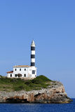 Portocolom lighthouse Royalty Free Stock Images