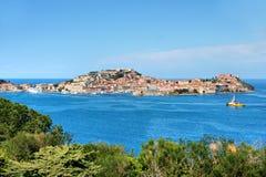 Portoferraio, Eiland van Elba, Italië. Royalty-vrije Stock Foto