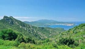 Portoferraio Elba ö, Tuscany, Italien Royaltyfria Foton