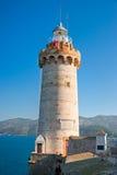 Portoferraio fyr, Isle av Elba, Italien. Arkivfoto