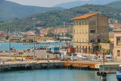 Portoferraio-Hafen auf Elba-Insel, Toskana, Italien Lizenzfreies Stockbild