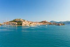 Portoferraio no console da Ilha de Elba, Toscânia, Itlay Fotografia de Stock