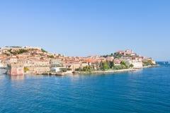 Portoferraio no console da Ilha de Elba, Toscânia, Itlay Foto de Stock Royalty Free