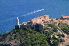 Portoferraio's lighthouse Stock Photo
