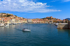 Portoferraio from the sea Stock Photos