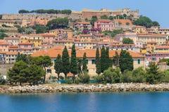Portoferraio from the sea, Elba island, Tuscany, Italy Stock Photo