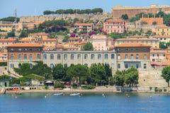 Portoferraio from the sea, Elba island, Tuscany, Italy Stock Image