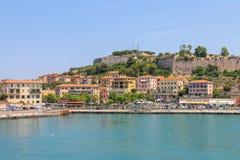 Portoferraio from the sea, Elba island, Tuscany, Italy Stock Images