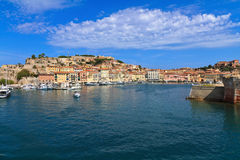 Portoferraio - view from the sea Royalty Free Stock Photography