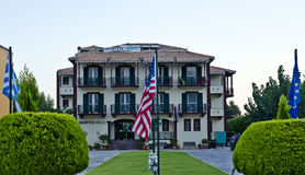 Portofico旅馆, Vasiliki,莱夫卡斯州 库存图片