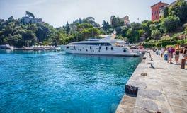 Portofino,意大利: 豪华小船II 库存照片