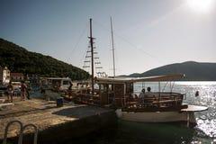 portofino της Ιταλίας εικονογραφικός κόλπος στοκ εικόνες