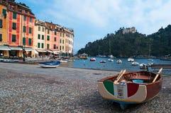 Portofino, Генуя, Лигурия, Италия, итальянка Ривьера, Европа Стоковые Фото