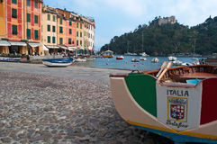 Portofino, Генуя, Лигурия, Италия, итальянка Ривьера, Европа Стоковое фото RF
