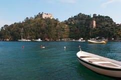 Portofino, Генуя, Лигурия, Италия, итальянка Ривьера, Европа Стоковые Фотографии RF