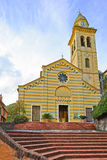 Portofino, наземный ориентир церков Сан Martino. Италия Стоковое фото RF
