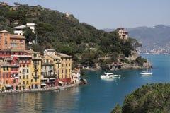 Portofino #2. View on Portofino-small village on Mediterranean sea in Italy Royalty Free Stock Photo