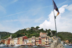 Portofino. Liguria. Sea and beach in Northern Italy, UNESCO SITE and Natural Reserve Royalty Free Stock Photography