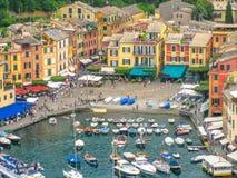 Portofino aerial view Stock Image